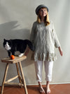 Linen Tunic with Ruffles, Linen Blouse-Linenbee
