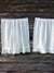 Linen Cafe Curtain, White Linen Curtain Panel French Country Cafe Curtain with Ruffle-Linenbee