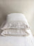 White Linen Pillowcase with Lace, Romantic Pillowcase-Linenbee