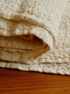 Linen bed cover Champagne color Textured, Rustic linen-Linenbee