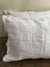 Set of Two Linen Pillowcases with Frayed Edges, Frayed Pillowcases-Linenbee