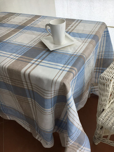 Linen tablecloth, Tartan tablecloth-Linenbee