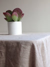 "Extra wide linen tablecloth 90 x 85"" (230x215cm) from sturdy natural linen Large linen tablecloth, large custom tablecloth-Linenbee"