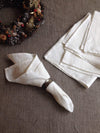 White Linen Napkins, Set of 12 Cloth Napkins-Linenbee