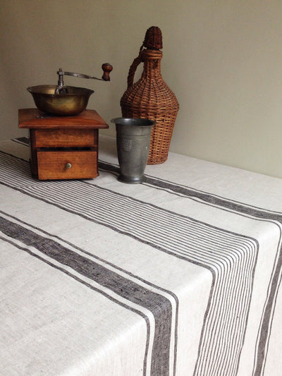 Linen tablecloth, French country rustic table cloth-Linenbee