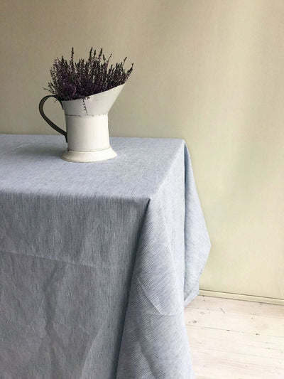 Linen tablecloth, striped tablecloth-Linenbee