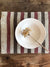 Striped linen placemats, set of 10 placemats-Linenbee