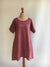 Red Tunic Top, Linen Tunic Dress-Linenbee