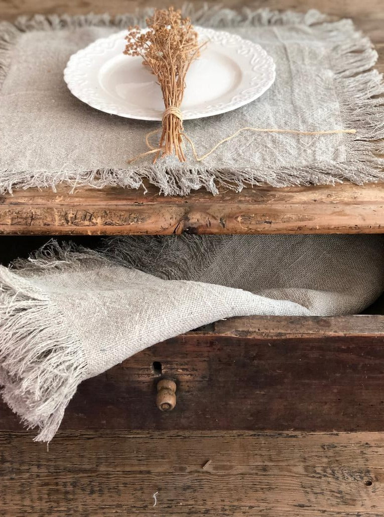 Linen placemats Natural Linen Table