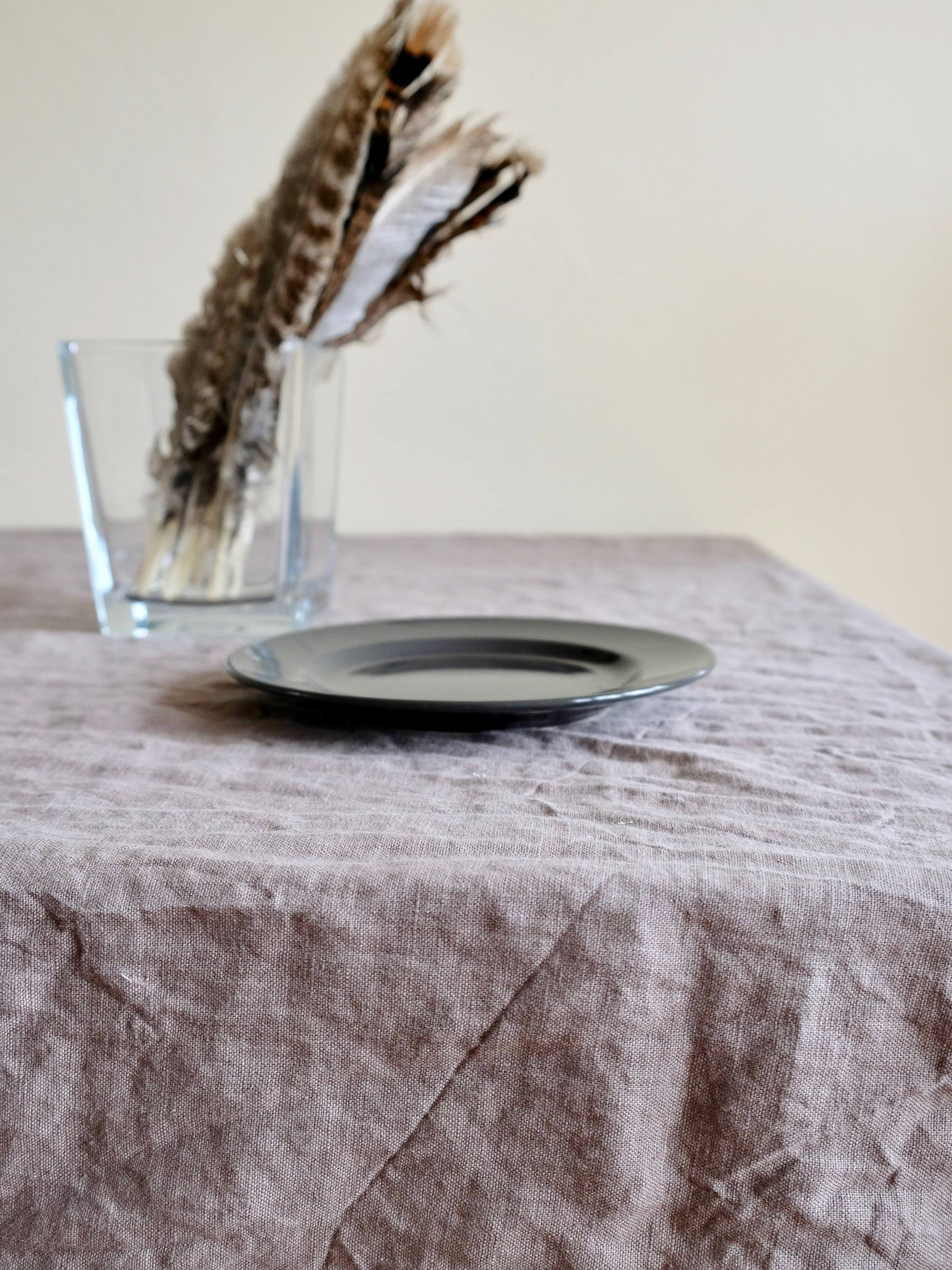 Light Grey Linen Table Cloth, Linen Tablecloth Rectangle-Linenbee