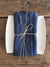 8 Blue Linen Napkins, Christmas table-Linenbee