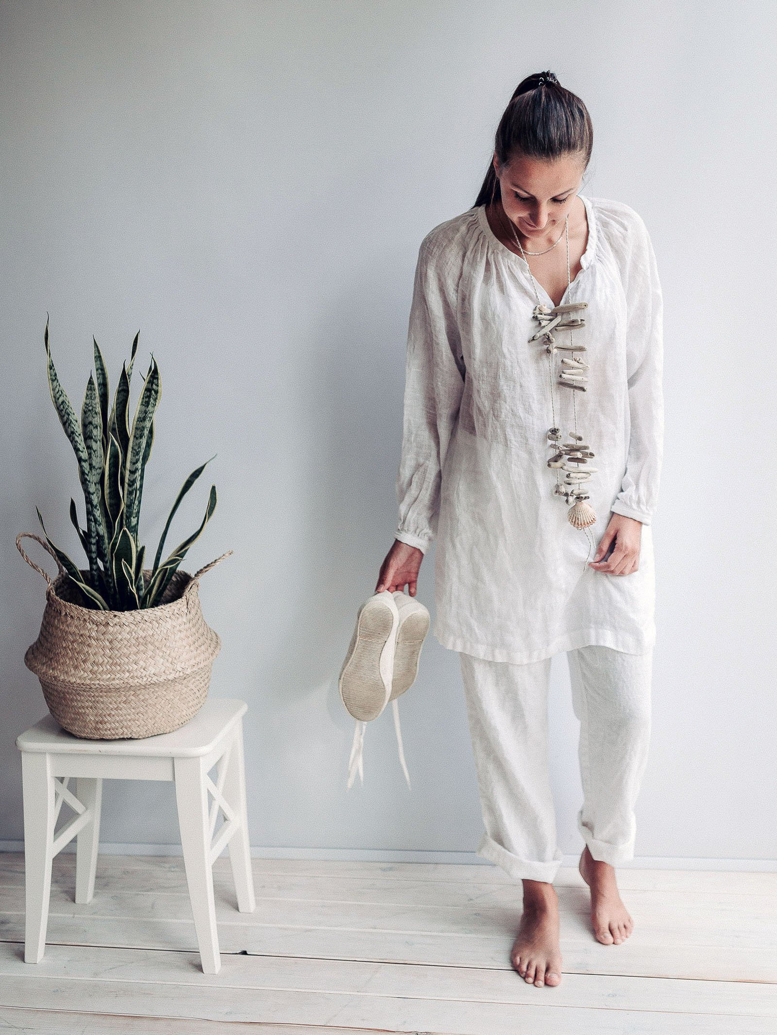 Linen Shirt for Women, Gauzy Lightweight Boho Top-Linenbee