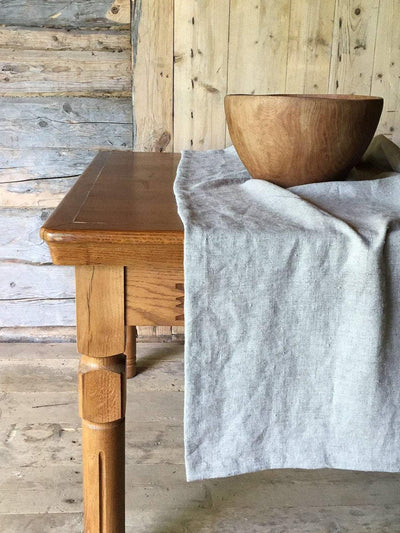 Natural Linen Table Cloth, Rustic Gorgeous texture Taupe Linen Tablecloth Rectangle-Linenbee