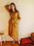 "Long Robe ""Ofelia"", Long Sleeve Robe-Linenbee"