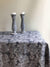 Dark Tablecloth with Frayed Edges, Linen Table Cloth-Linenbee