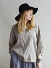 Oversized linen top, boxy top-Linenbee
