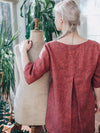 Linen Tunic Top, Plus size tunic-Linenbee