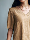 Linen Top for Women, Linen T-shirt-Linenbee