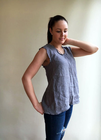 Ready to Ship:Linen Tank Top, Size XS/S