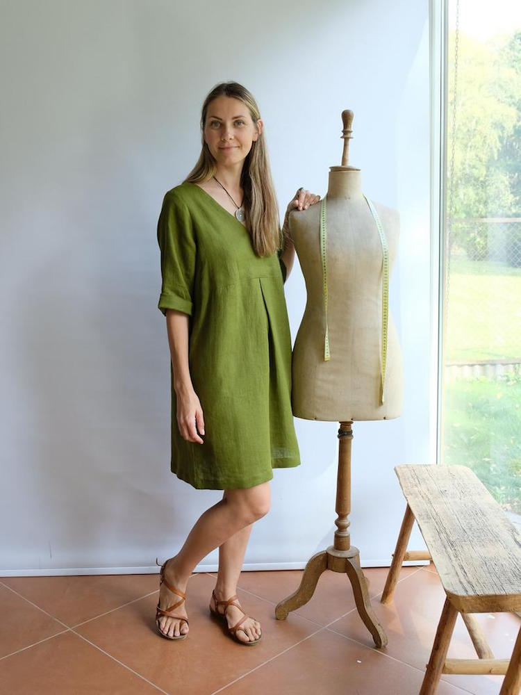 V-neck Linen Tunic 'Yvette', Plus size tunic
