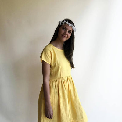 Ready to Ship: Linen Dress, Size S/M