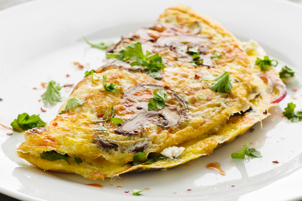 Flat Iron® Spinach & Feta Omelette