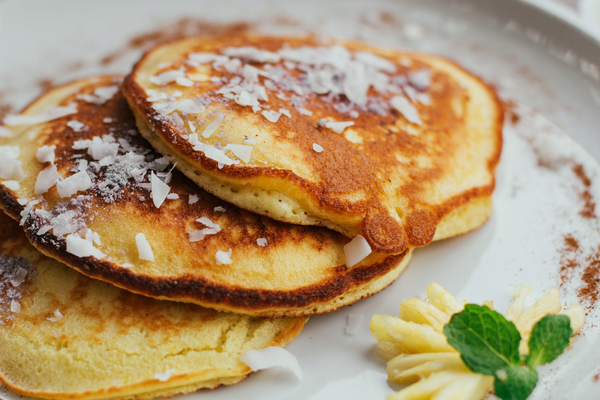 Flat Iron® Pineapple Coconut Pancakes