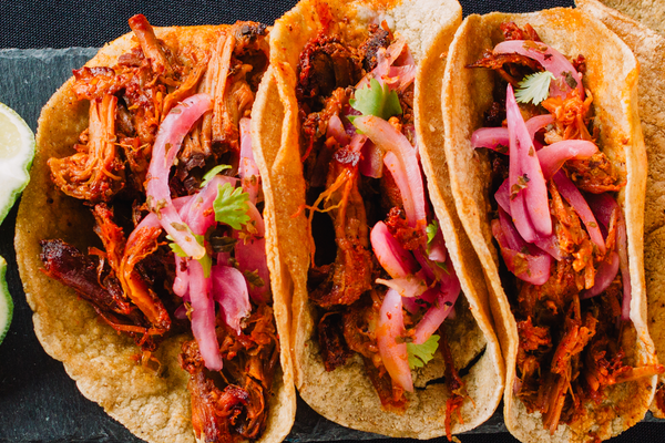 Chili Mesquite Lime Shredded Chicken Street Tacos