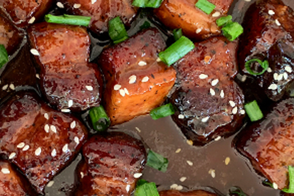 Orange Pork Belly Burnt Ends