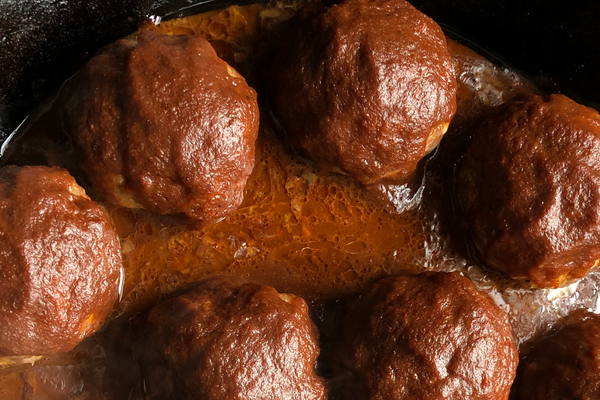Smoked and Stuffed Meatballs