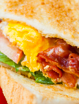 Flat Iron® Bacon Egg & Cheese