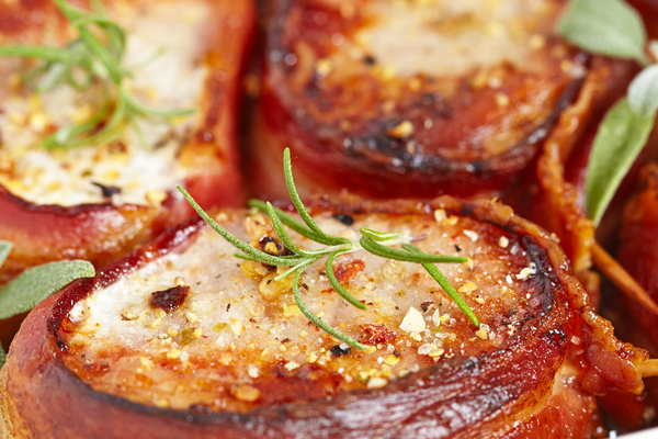 Bacon Wrapped Pork Tenderloin Stuffed with Jalapeno Cream Cheese