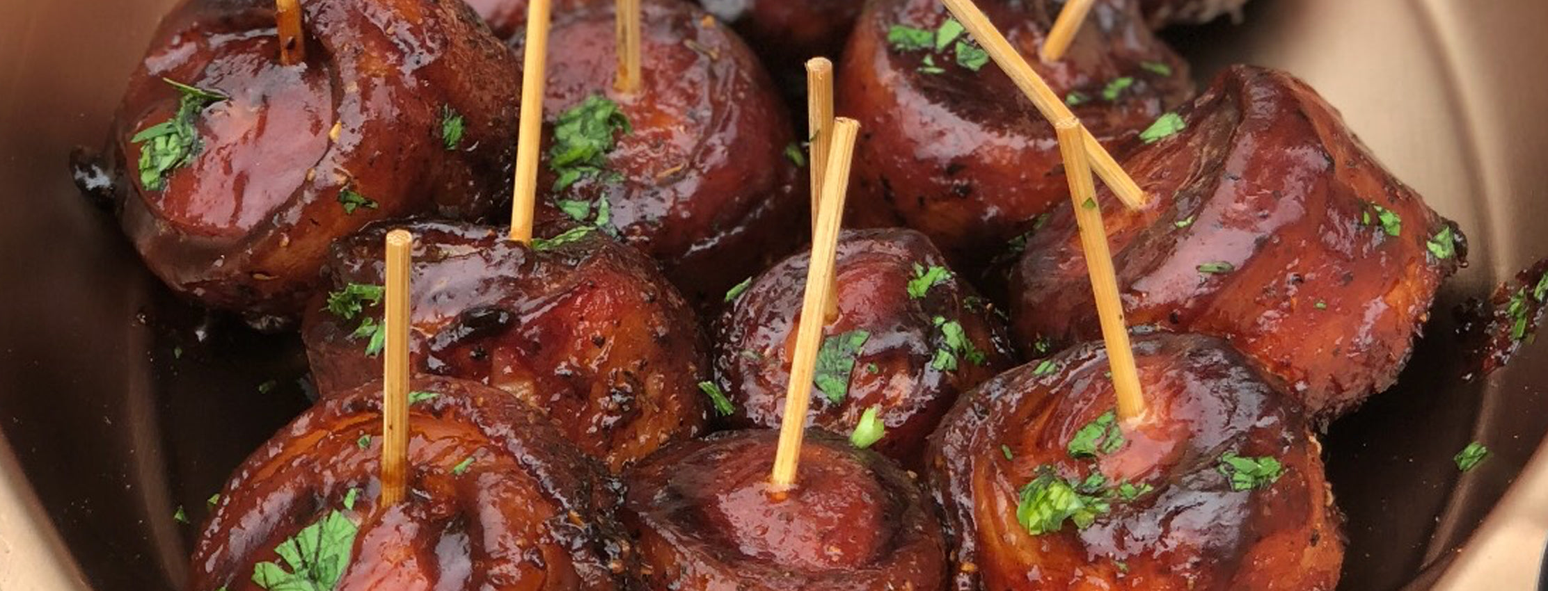 Bacon Wrapped Kielbasa Bites