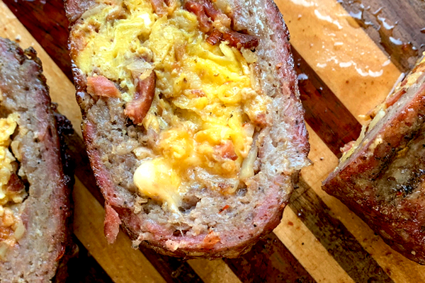 Breakfast Bomb - Homemade Stuffed Breakfast Sausage