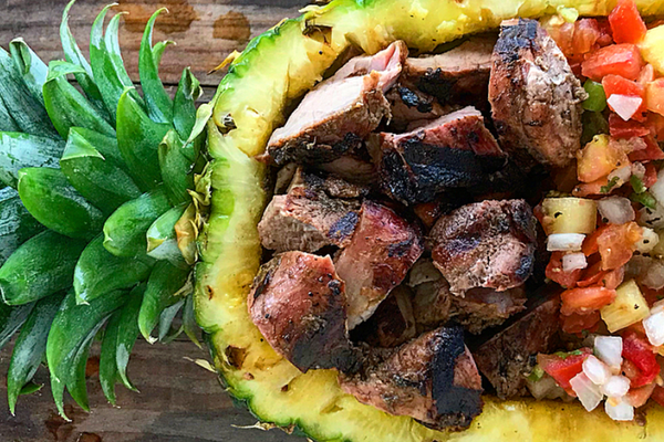 Caribbean Jerk Pork w/ Pineapple Salsa