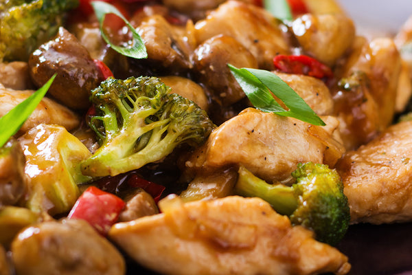 Grilled Chicken and Broccoli Stir-Fry