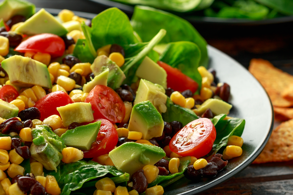 Fresh Summer Corn Avocado Tomato Salad
