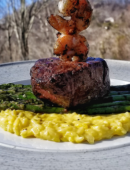 Filet Mignon, Risotto, and Asparagus