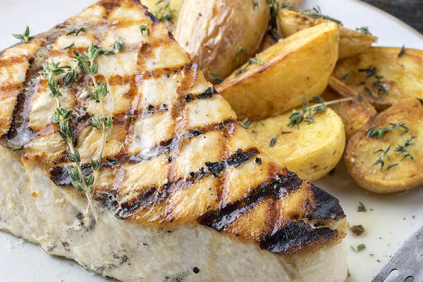 Grilled Swordfish with Lemon-caper Sauce