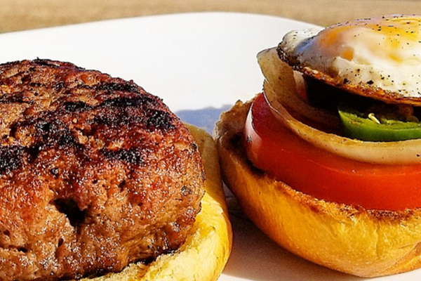 Inch-Thick Onion Char-Burgers