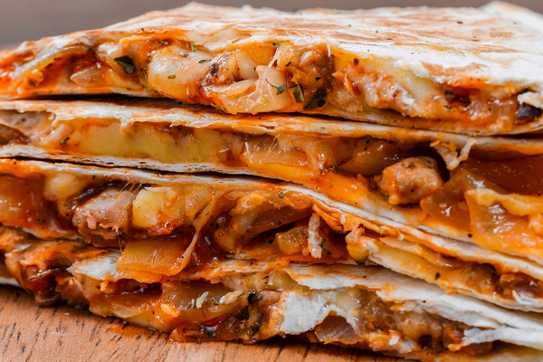 Flat Iron® Lime Chicken and Mango Salsa Quesadillas