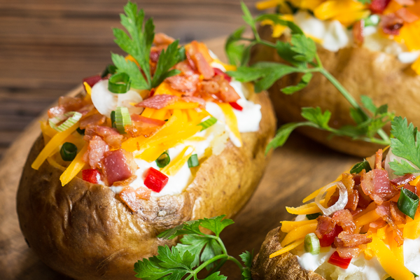 Foil Packet Loaded Grilled Potatoes