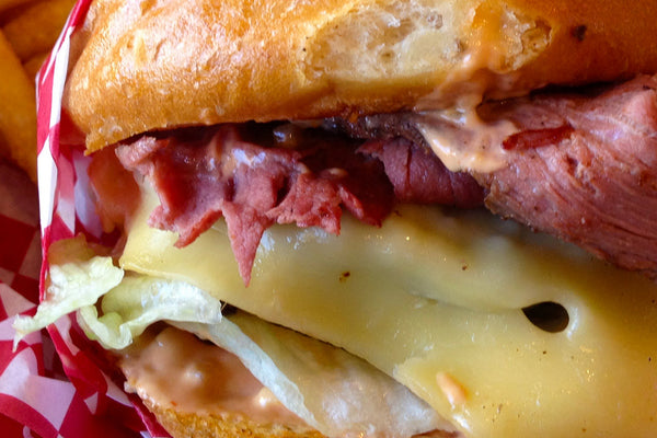 Pastrami Swiss Burger