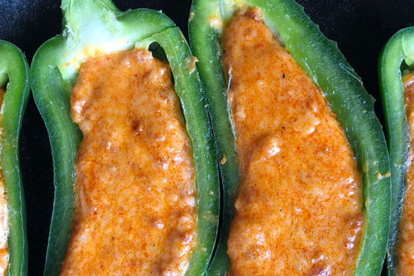Queso Fundido Stuffed Grilled Jalapeños