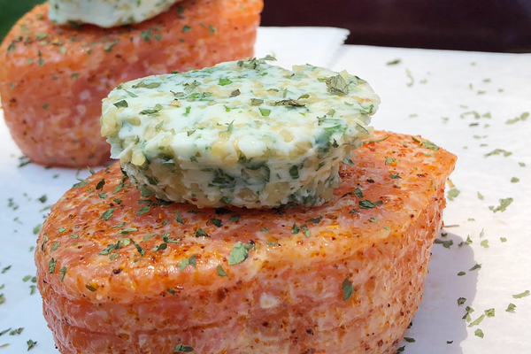 Fresh Garlic Parsley Butter Salmon