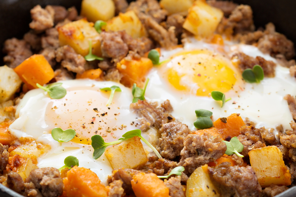 Flat Iron® Sausage and Peppers Hash