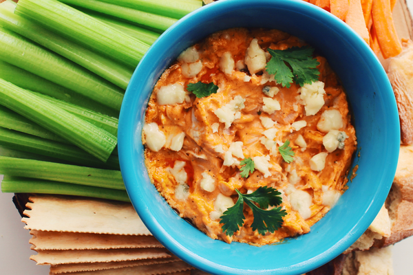 Smoked Buffalo Chicken Wing Dip