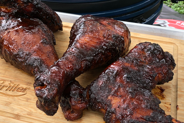 Smoked n' Sauced Turkey Wings and Legs