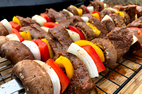 London Broil n' Veggie Skewers
