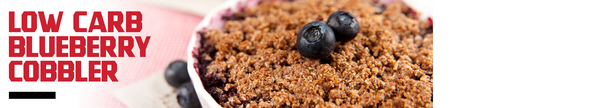 Low Carb Blueberry Cobbler